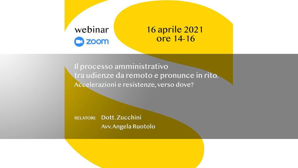 Webinar  su Zoom 16 aprile 2021